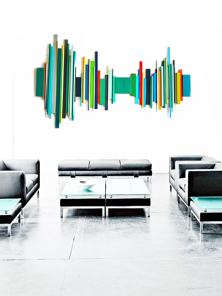 3d wall sculpture | commercial art installation | rosemary pierce modern art