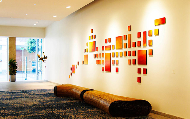 Corporate Lobby Art | Original Wall Art Installation | Rosemary Pierce