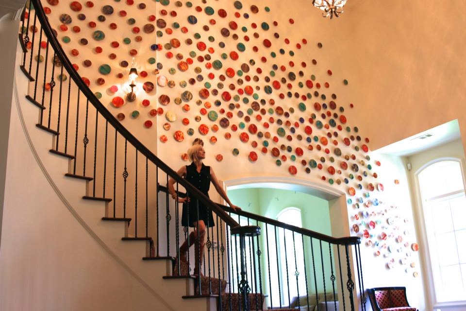 Large Abstract Circular Art Installation