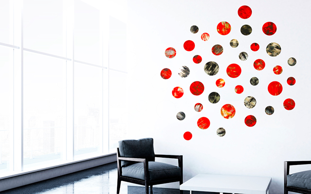 Lyrical Circles | Corporate Artwork | Geometric Wall Sculpture