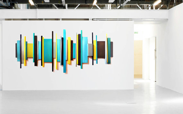 Structure Sculpture | Painted Wood Wall Sculpture | Corporate Artwork