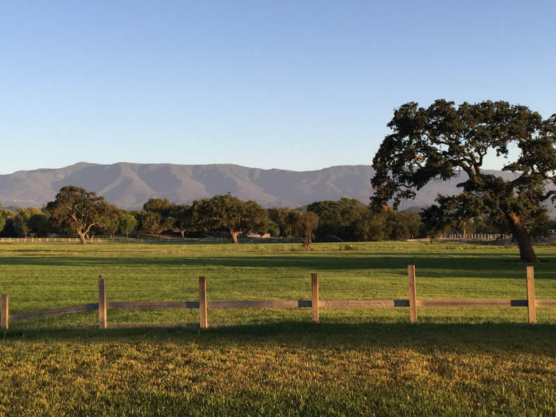 View of Santa Ynez Valley, California