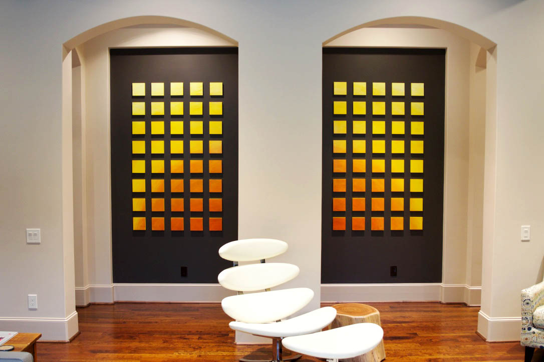 original custom wall sculpture | Sunshine in Color | private interior design and art | rosemary pierce modern art