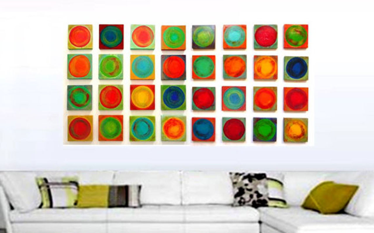 Dancing-Circles-Original-Rosemary-Pierce-Modern-Art
