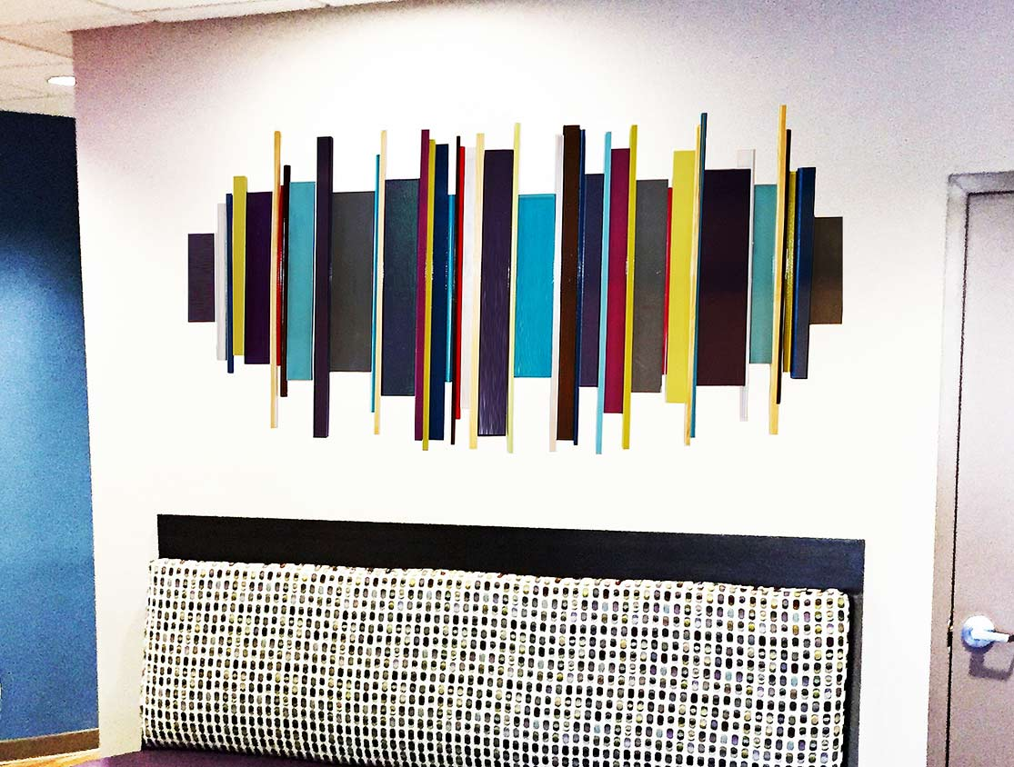 Wood Wall Sculpture | Custom Healthcare Artwork | Corporate Wall Art