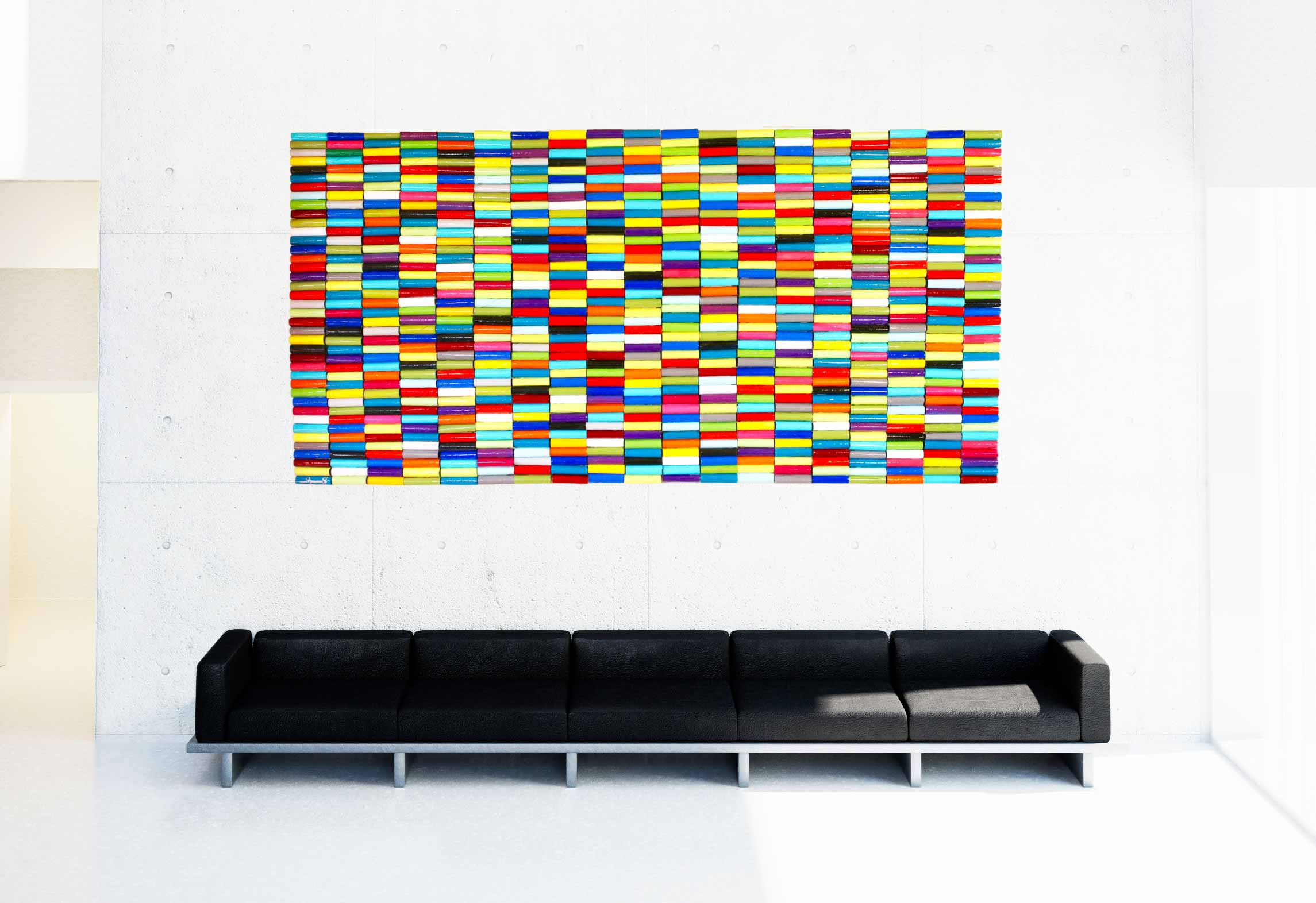 Rolls of Color | 3-d contemporary art | wall sculpture | rosemary pierce modern art