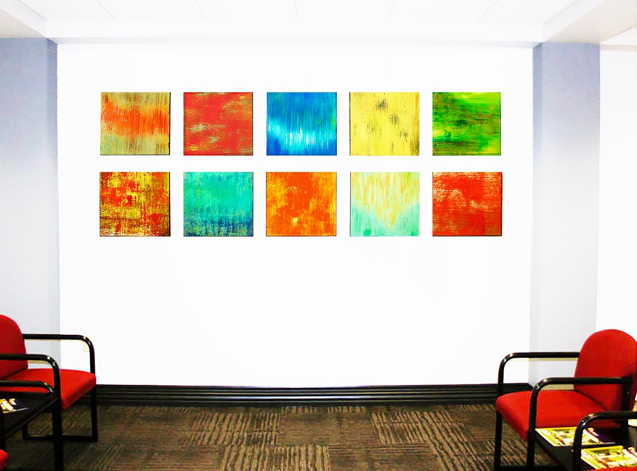 Healthcare Artwork | Waiting Room Art | Custom Corporate Artwork | Rosemary Pierce