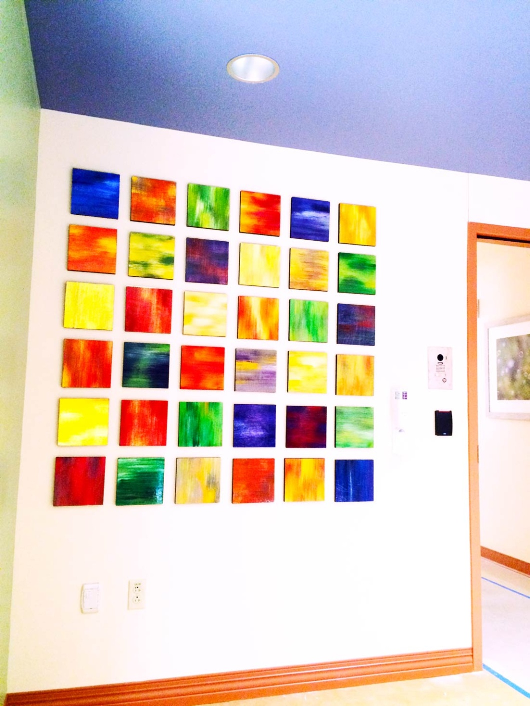 Custom Healthcare Art | Original Abstract Art | Hospital Waiting Room Artwork