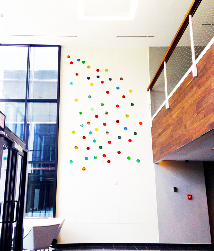 Commercial Art Installation | Modern Lobby Design | Corporate Art | Rosemary Pierce Modern Art